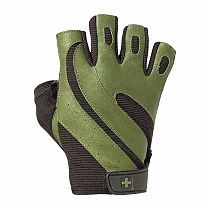 """Перчатки  для фитнеса HARBINGER(""""Pro Wash&Dry"""")зеленые - фото 5757"""