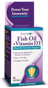Natrol Fish Oil & Vitamin D3 (90cap) - фото 5919