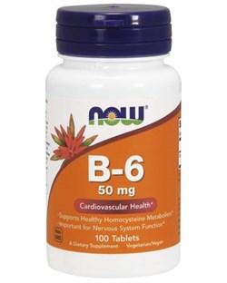 NOW Vitamin B-6 50 мг (100 табл) - фото 5923