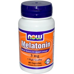 NOW Melatonin 3 mg (60cap) - фото 5955