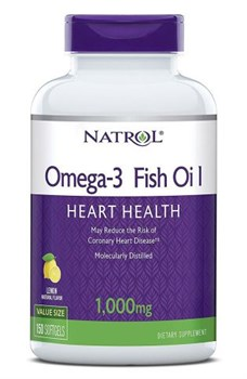 Omega-3 Fish Oil Natrol (150 soft) - фото 5995