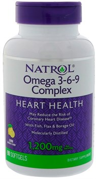 Natrol Omega 3-6-9 1200 mg (90 soft) - фото 5996