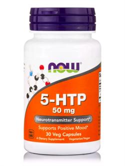 NOW 5-HTP 50mg (30 veg caps) - фото 6246