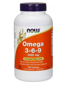 NOW Omega 3-6-9 1000mg (250soft) - фото 6264