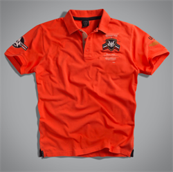 Футболка-поло мужская оранжевая UNCS (Airforce Polo) - фото 6453