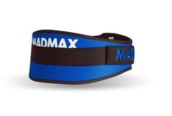 Пояс для фитнеса MadMax синий (MFB-421нейлон) - фото 6490