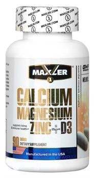 Maxler Calcium Zinc Magnesium Zink + D3  (90 табл) - фото 6520