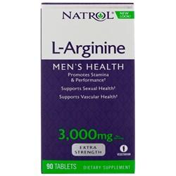 Natrol L-Arginine 3000 mg (90 tab) - фото 6549