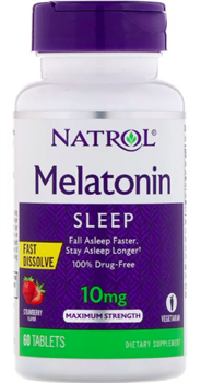 Natrol Melatonin 10 mg (60 tab) - фото 6574