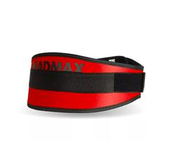 Пояс для фитнеса MadMax (MFB-421нейлон) красный - фото 6610