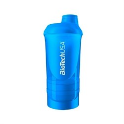 BioTech Shaker Wave 3в1 (600+250+100 мл) синий - фото 6876