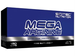 Аргинин Mega Arginine 120 cap SciTec Nutrition - фото 6902
