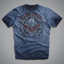 Мужская футболка синяя (Bikers T-Shirt ) UNCS