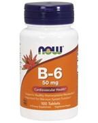 NOW Vitamin B-6 50 мг (100 табл)