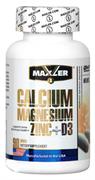 Maxler Calcium Zinc Magnesium Zink + D3  (90 табл)