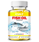 CULT FISH OIL + VITAMIN E 1000МГ (90 гель.капс)