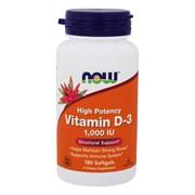 Витамин D3 1000  IU Now Foods (180 кап)